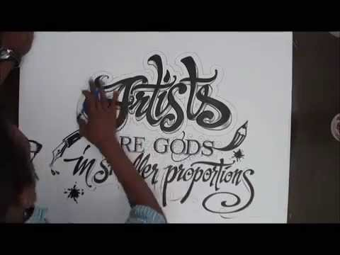 Drawn typography  Typography drawn Hand YouTube