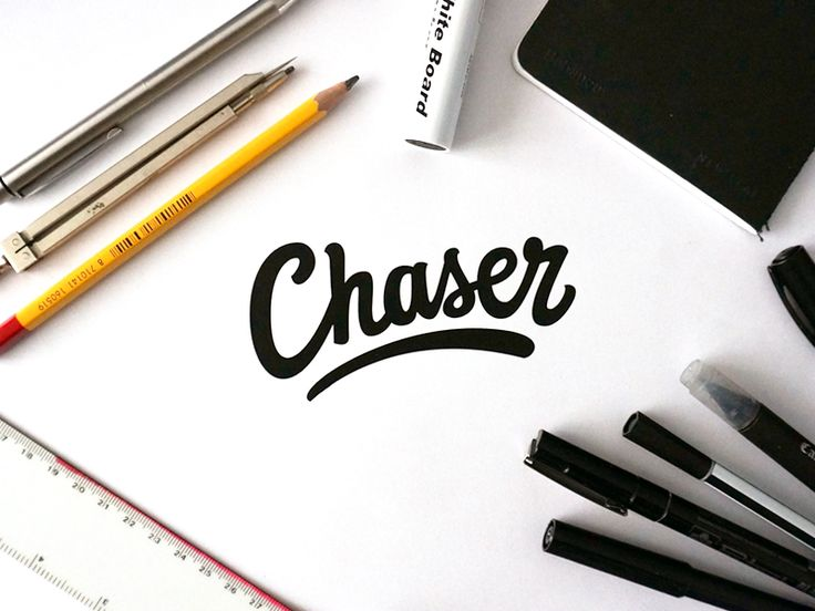 Drawn typography branding Chaser Hand 90 on Lettering