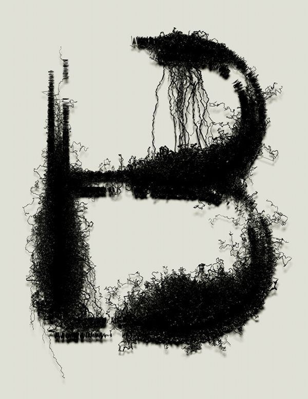 Drawn typography gritty By EXPERIMENTAL TYPOGRAPHY via best