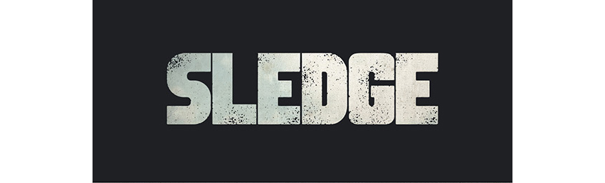 Drawn typography gritty Must Sledge Typeface for and