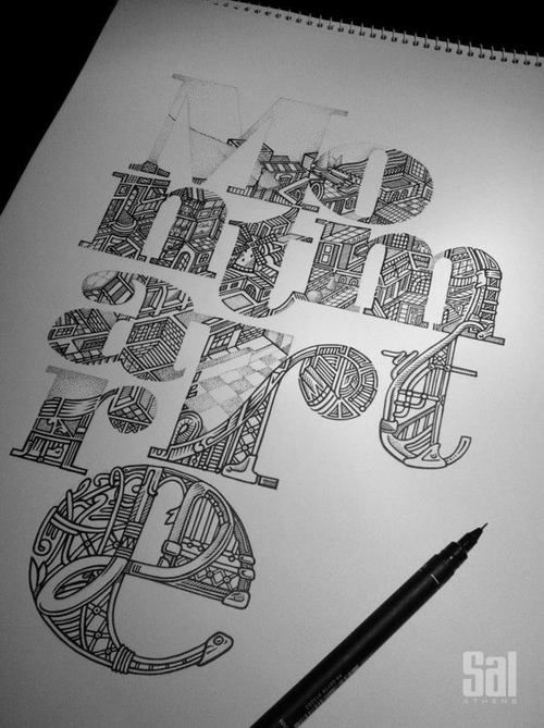 Drawn typography intricate Intricately of Inspiration Examples Drawn