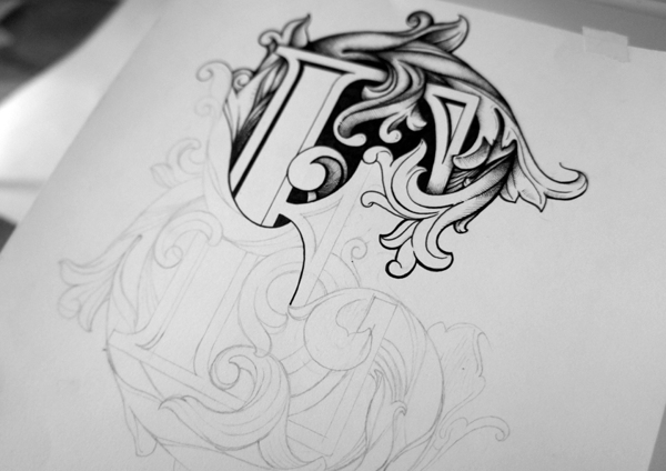 Drawn typography intricate Typographic   his of