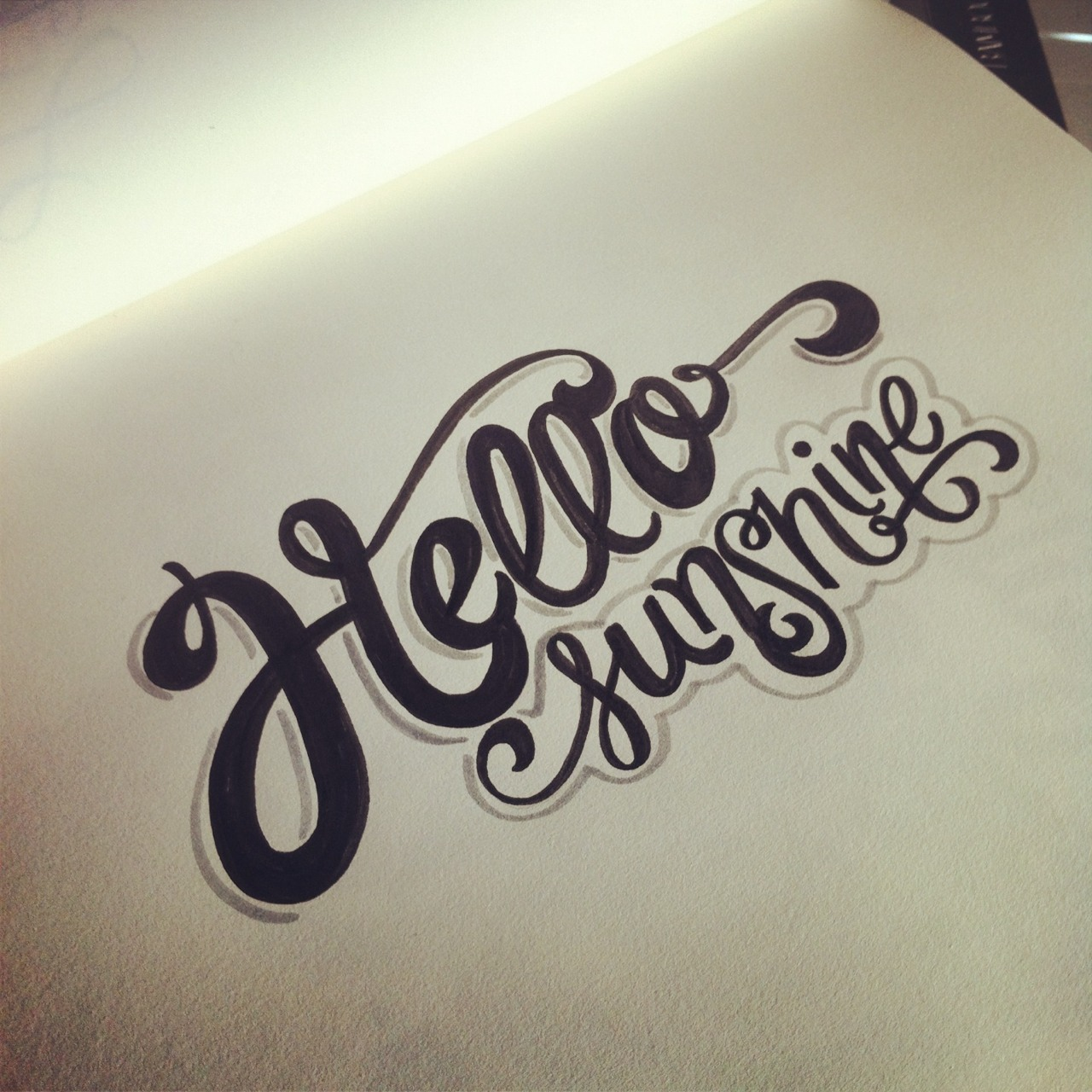 Drawn typography lettered Sunshine! Typography #lettering #lettering #type