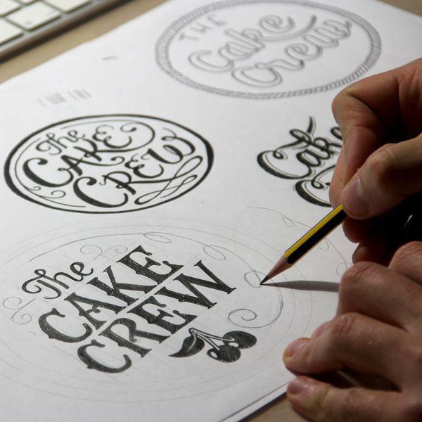 Drawn typography logo On best and to Logo
