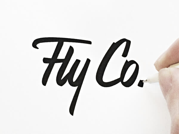 Drawn typography logo Beautifully Paul by Hand Excite