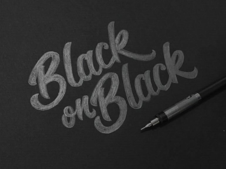 Drawn typography logo  typography on logo Black