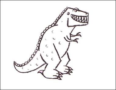 Drawn tyrannosaurus rex Draw to rex to Hellokids