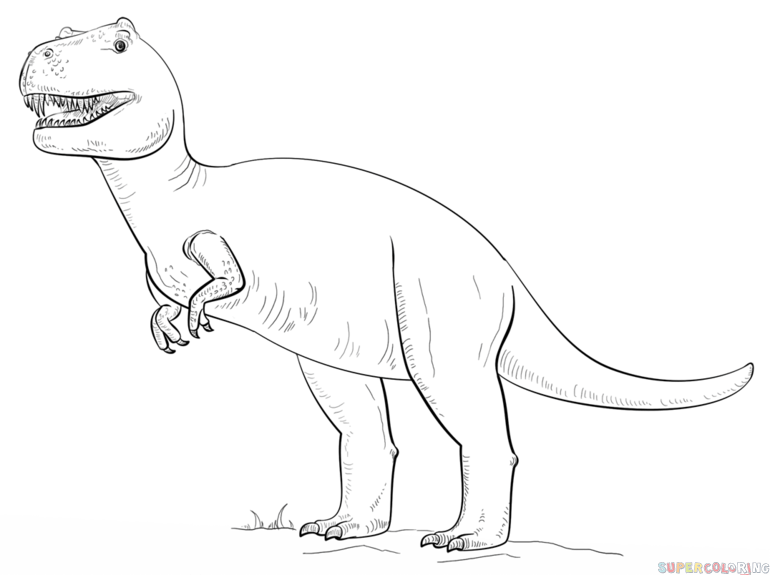 Drawn tyrannosaurus rex Tyrannosaurus draw to Rex by