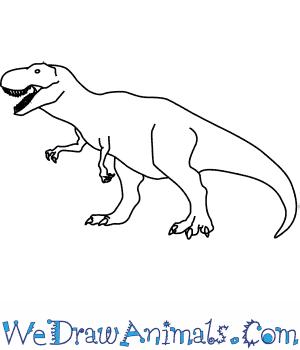 Drawn tyrannosaurus rex How a Draw to Tyrannosaurus