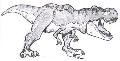 Drawn tyrannosaurus rex By Rex T beaubaphat DeviantArt