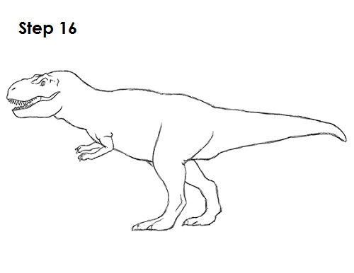 Drawn tyrannosaurus rex Tyrannosaurus a Tyrannosaurus How rex)