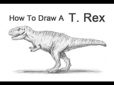 Drawn tyrannosaurus rex Rex) (T How a YouTube