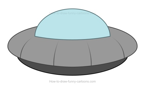 Drawn ufo Cartoon Cartoon to UFO UFO