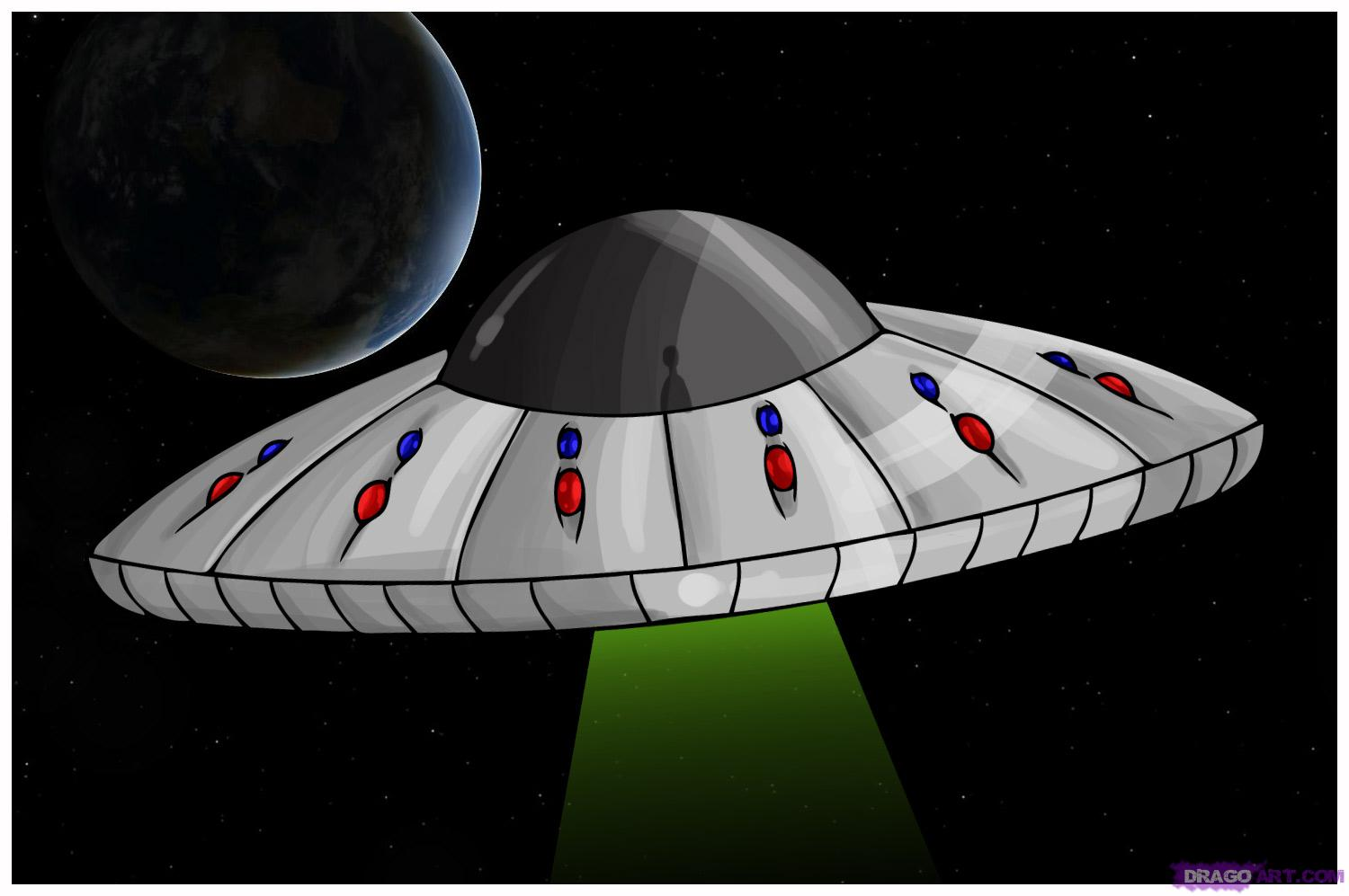 Drawn ufo Step Step UFO a how
