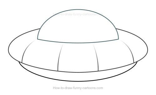 Drawn spaceship simple A UFO Cartoon Draw UFO