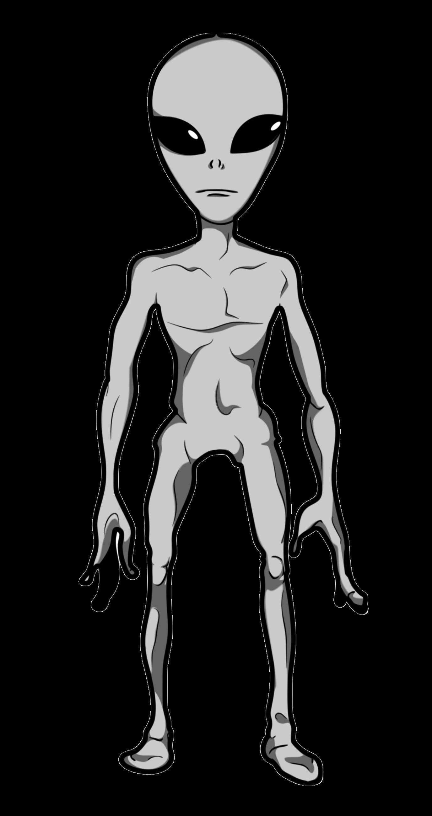 Sci Fi clipart grey alien #1