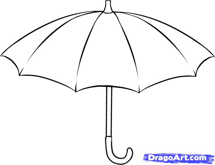 Drawn umbrella Step Stuff draw Draw 5