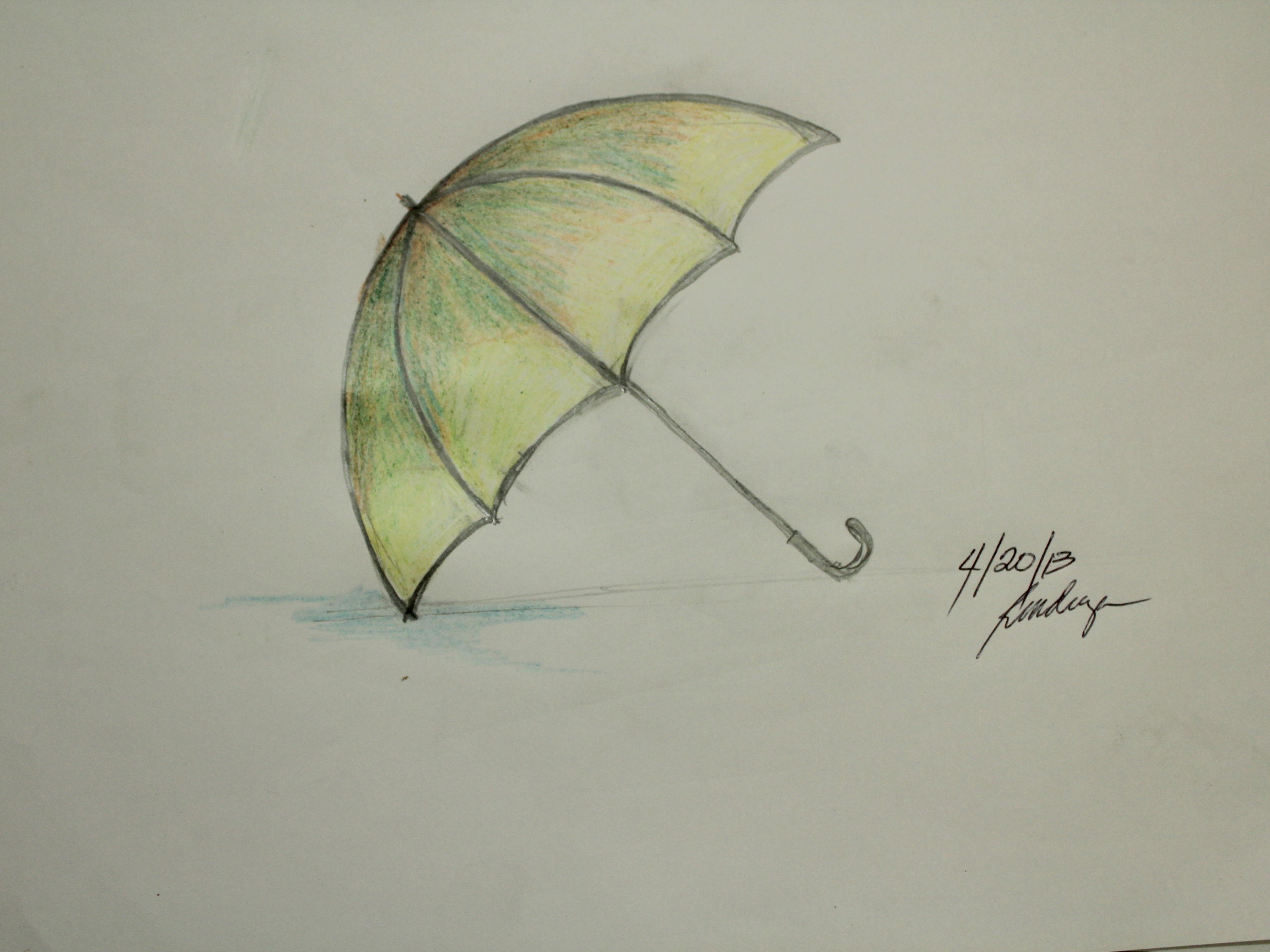 Drawn umbrella Umbrella to (with Draw wikiHow