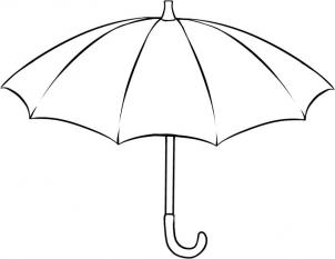 Drawn umbrella How draw umbrella to an