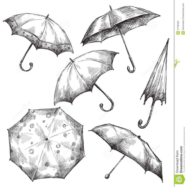 Drawn umbrella cartoon Umbrella Search 386 illustrations Umbrellas