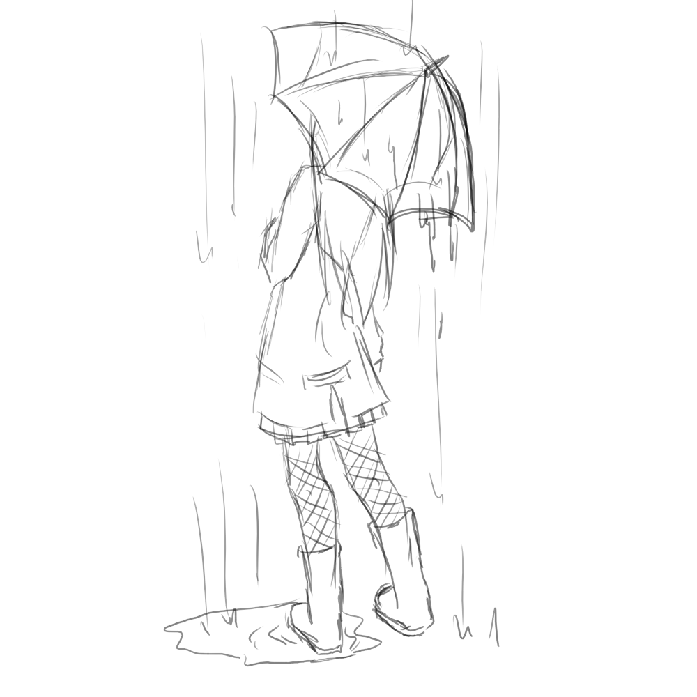 Drawn umbrella animation *witchgirl117 umbrella by drawing by