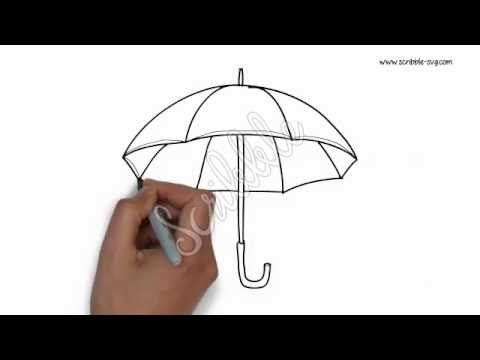 Drawn umbrella animation Drawn umbrella Hand YouTube animation