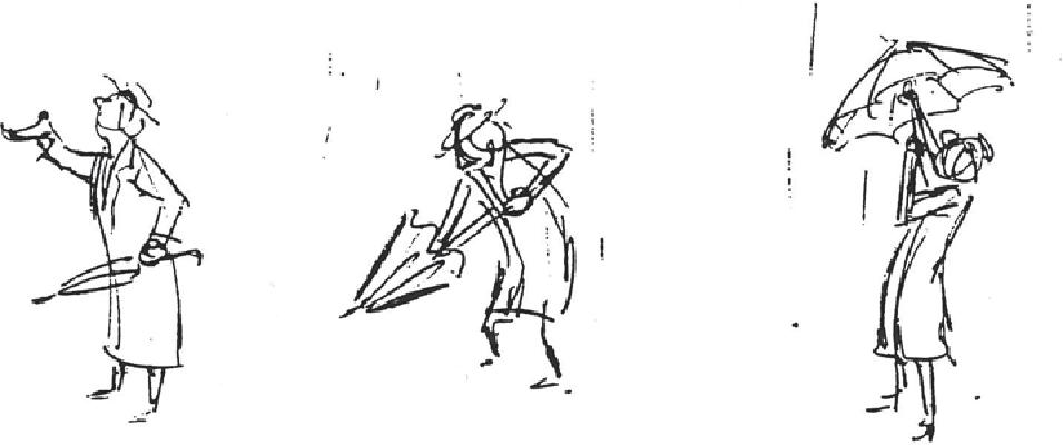 Drawn umbrella animation Another effect to view to