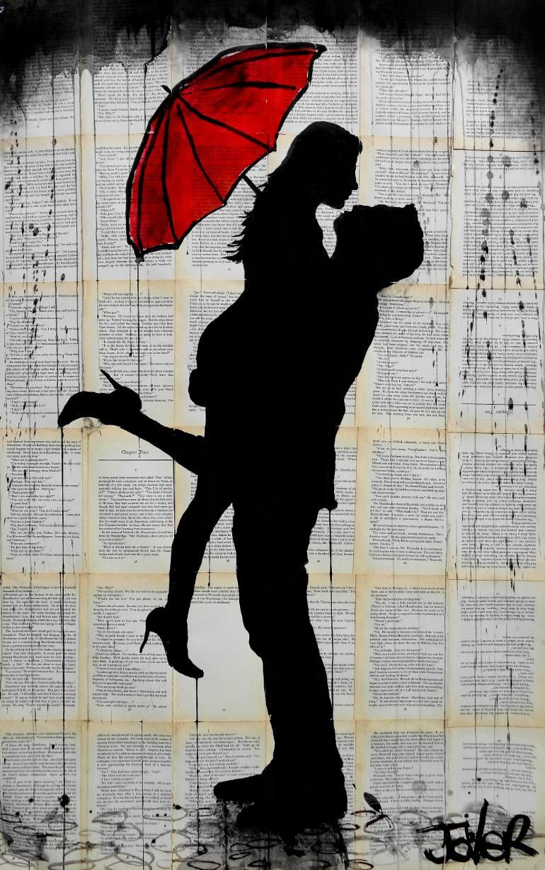 Drawn umbrella art Art Saatchi JOVER LOUI
