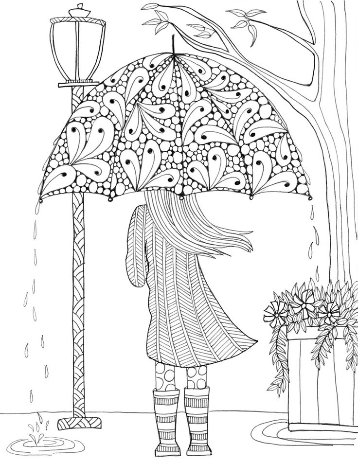Drawn umbrella colouring picture Ideas this adult pages Pin