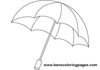 Drawn umbrella colouring picture Umbrella coloring coloring Rainbow umbrella