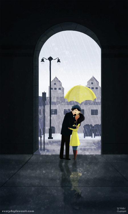 Drawn umbrella yellow umbrella Everyday Art Nidhi Chanani yellowumbrella