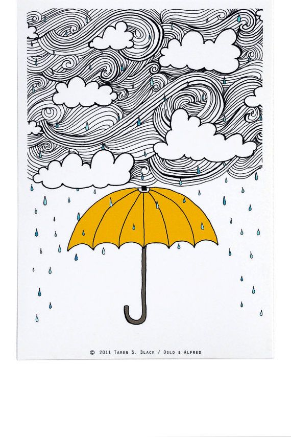 Drawn umbrella yellow umbrella Umbrella Best Illustration Taren Yellow