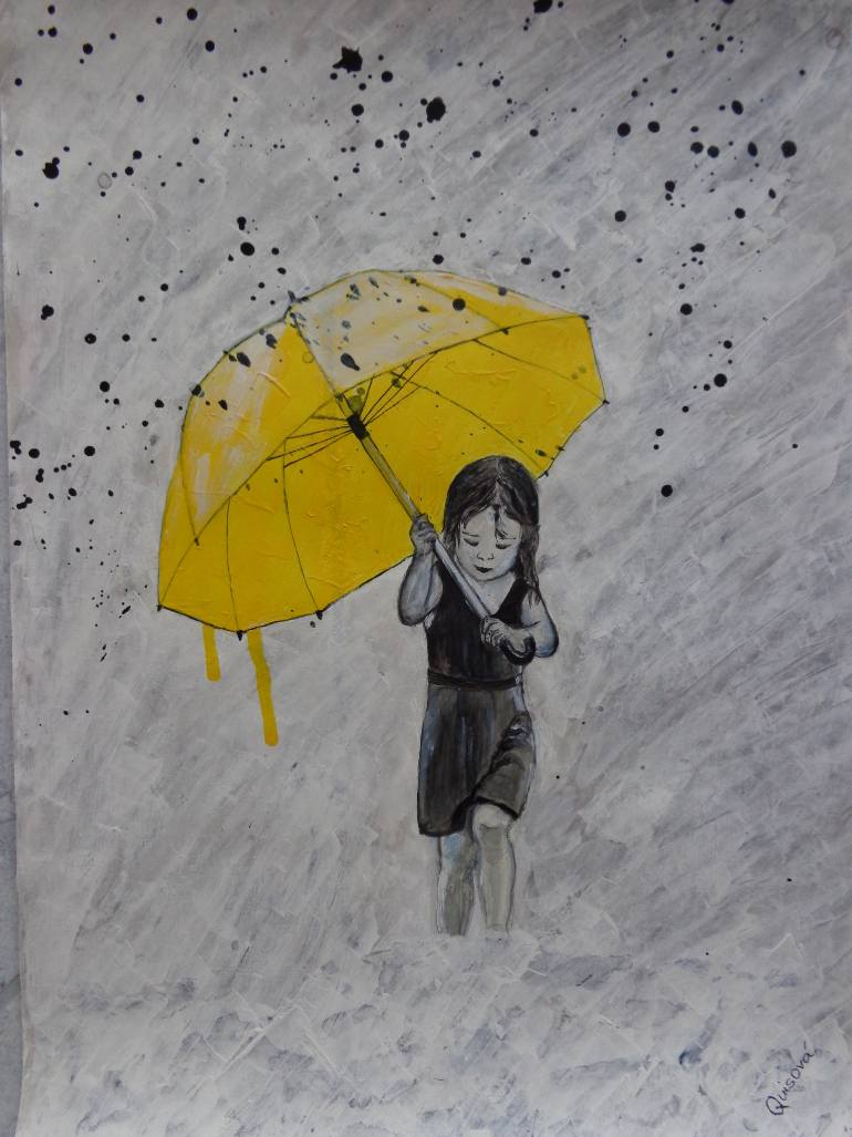 Drawn umbrella yellow umbrella By Yellow Sarka Drawing Drawing