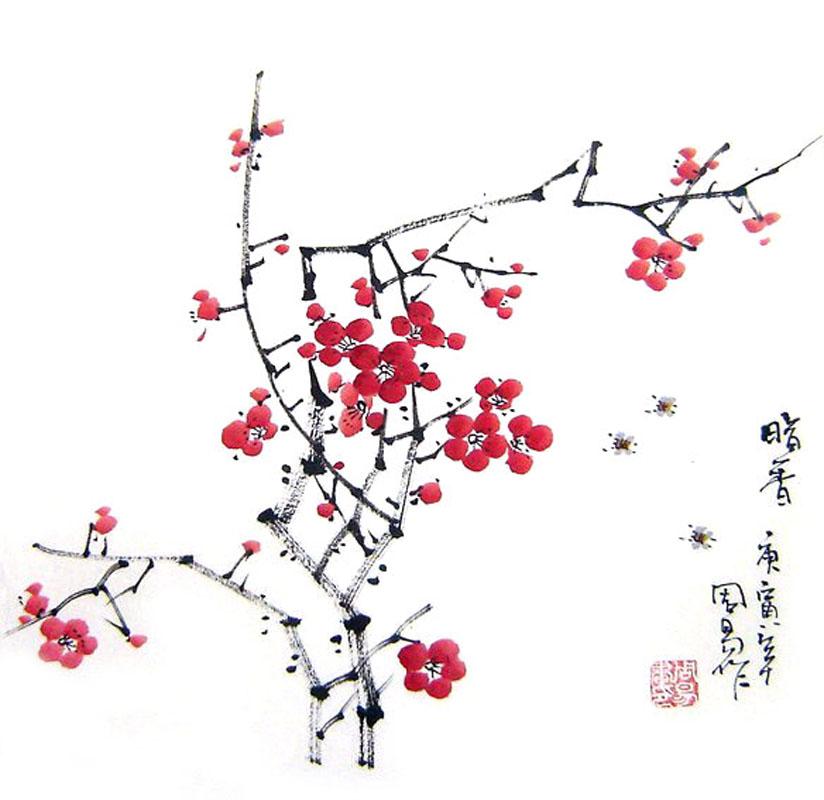 Drawn ume blossom Plum X 2396001 Flower Plum