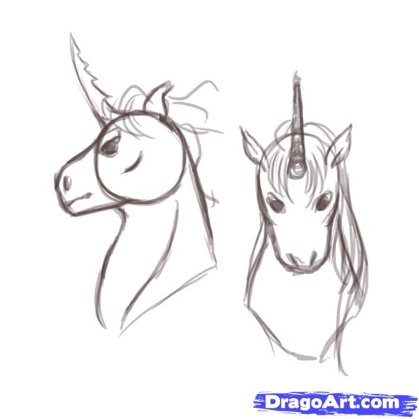 Drawn unicorn 1 How unicorns draw Fantasy