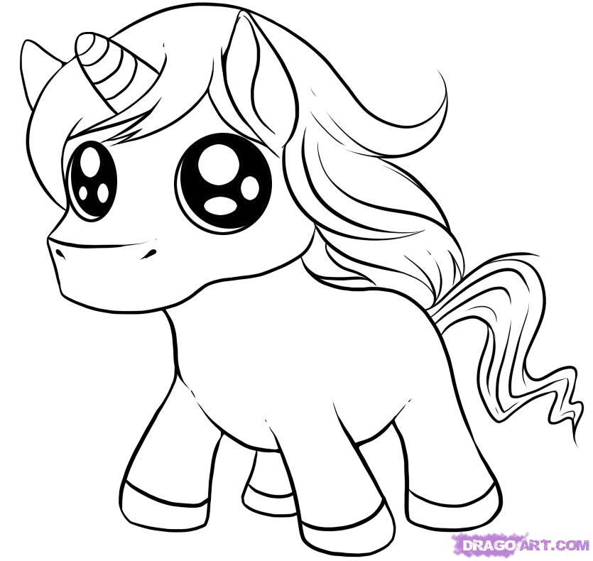 Drawn unicorn Animals how cute chibi draw