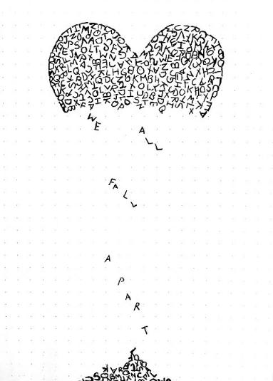Drawn broken heart depression #1