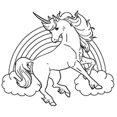 Drawn rainbow unicorn 25 Online Sheet Free Pages