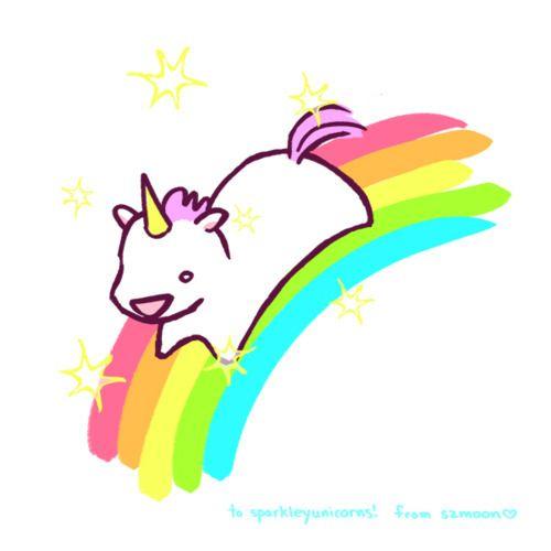 Drawn rainbow cute Unicorn  on Cute drawing