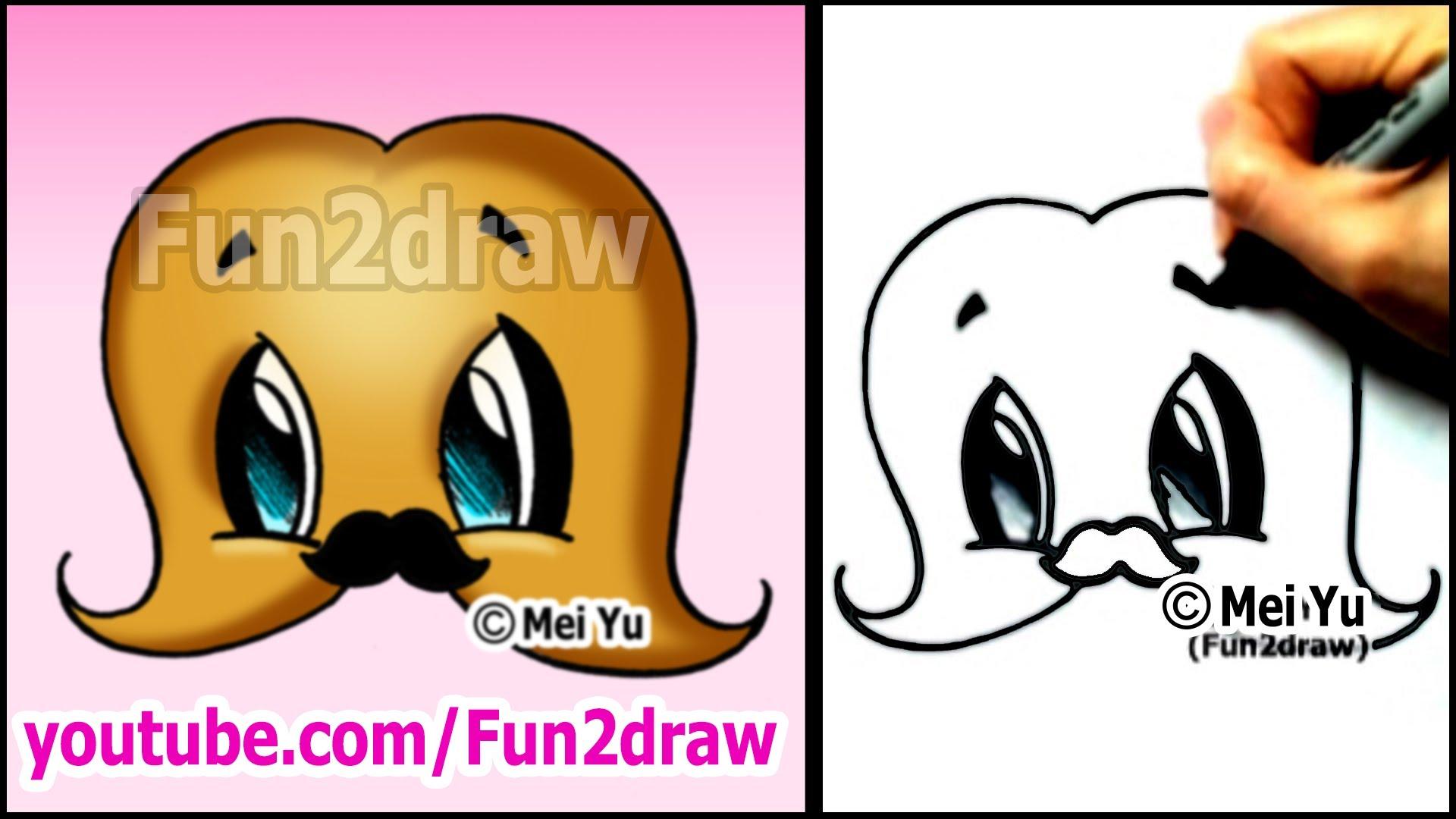 Drawn strawberry fun2draw Drawing cartoon a MUSTACHE! cute