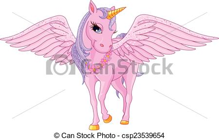 Wings clipart unicorn Of Unicorn Vector beautiful Unicorn
