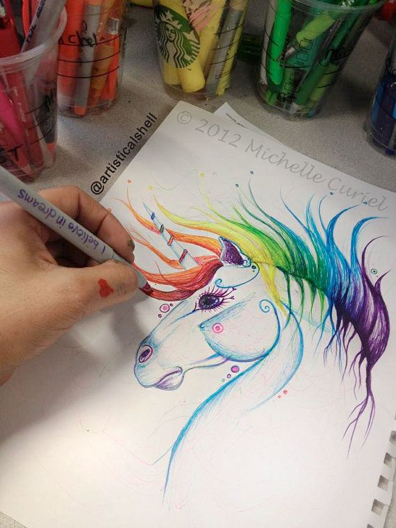 Drawn rainbow unicorn Pinterest 139 on Drawing best