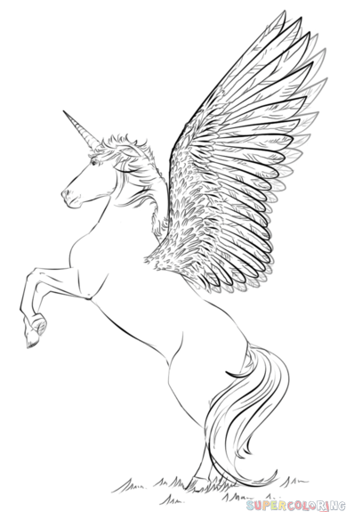Drawn trolley unicorn By a draw step draw