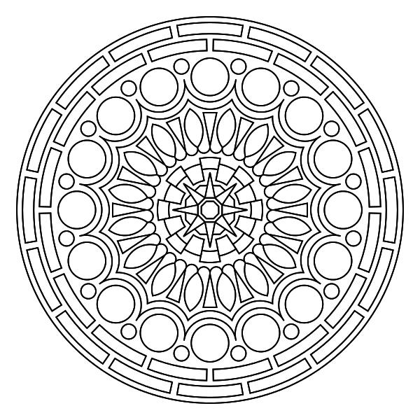 """Drawn universe mandala """"circle"""" Mandala is simple It"""