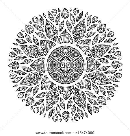 Drawn universe mandala Yoga chakra of universe geometric