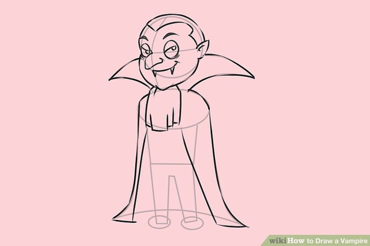 Drawn vampire doodle Step Vampire 7 a Image