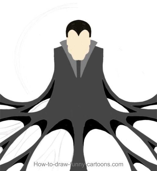 Drawn vampire doodle Painting) Vampire (Cartoon drawing Vampire