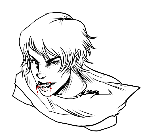 Drawn vampire Starsob) drawn lookinglassline drawn Vampire