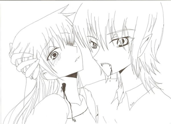 Drawn vampire anime vampire male Drawing Linea Anime Male Masteri