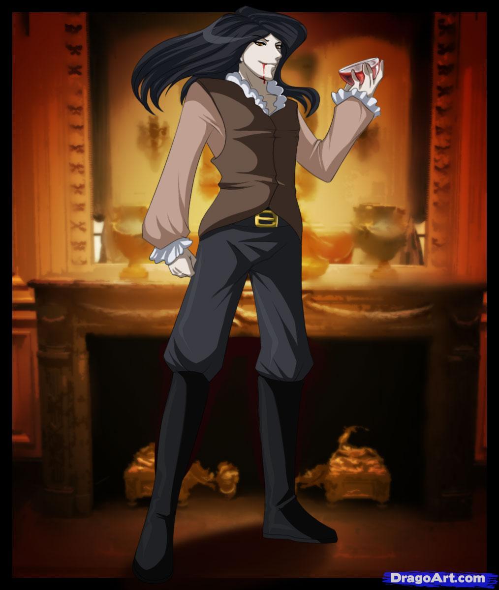 Drawn vampire anime vampire male By How to anime vampires